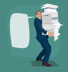 Businessman or manager carries working papers vector