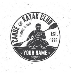canoe and kayak club vector image