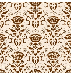 Classic seamless floral ornate background vector image