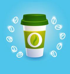 coffee take away cup break breakfast drink vector image