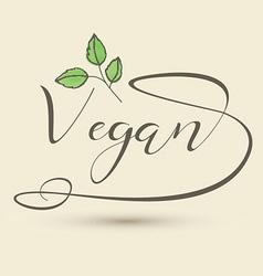 Decorative vegan type logo 1307 vector
