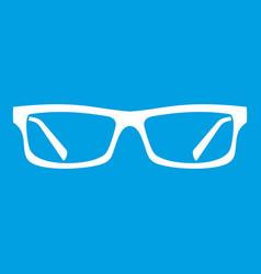 Eye glasses icon white vector