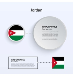 Jordan country set of banners vector
