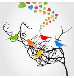 love of birds5 vector image