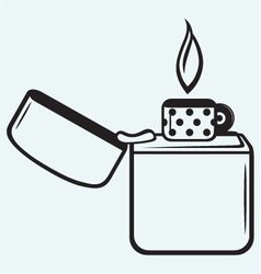Metal lighter vector image vector image