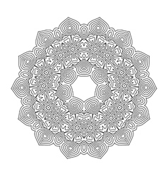 Monochrome mandala for coloring book vector image vector image