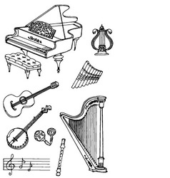 Music black white1 vector