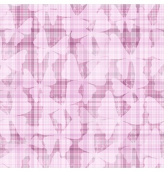 Pink gentle seamless checkered pattern vector image vector image