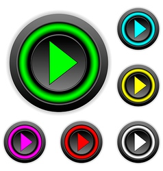 Play sign buttons set vector