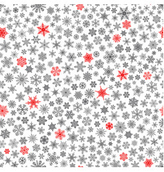 seamless pattern of snowflakes red and black on vector image