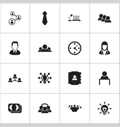 Set of 16 editable job icons includes symbols vector