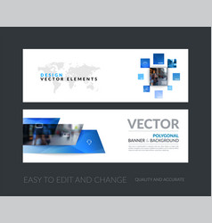 set of modern horizontal website banners vector image vector image