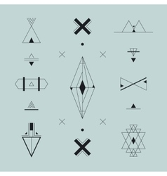 Set of trendy geometric icons logos signs vector image