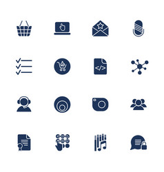 set with icons in modern style high quality vector image