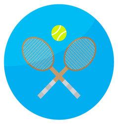Tennis sport icon vector image vector image