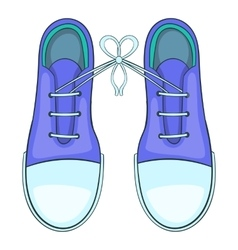 Tied shoes joke icon cartoon style vector
