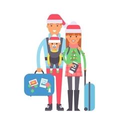 Travel couple vector