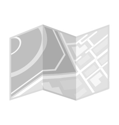 Travel map icon in monochrome style isolated on vector image vector image