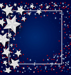 Usa background of star for 4 july independence vector