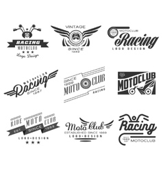 Vintage Motorcycle Labels Badges Text and Design vector image
