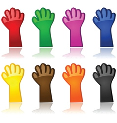 Color hands vector