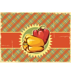 Peppers Vintage label vector image