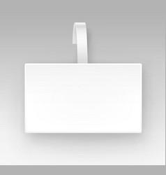 Blank white square paper plastic price wobbler vector
