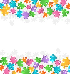 Bright jigsaw puzzle background vector