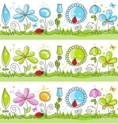 Floral decorative lines vector