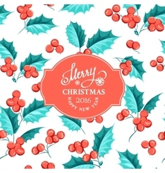 Mistletoe holiday card vector