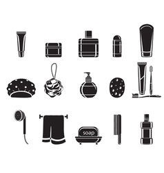Bathroom equipments set monochrome vector