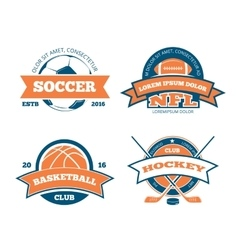 American football basketball soccer hockey vector