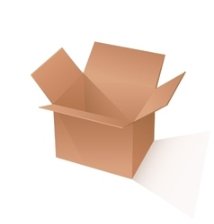 Brown box packaging vector