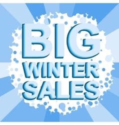 Big winter sale poster with big winter sale text vector