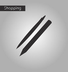 Black and white style icon pencil and pen vector