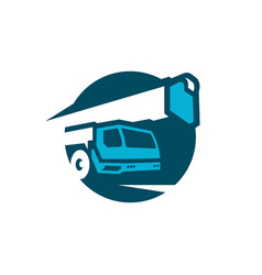 Boom truck crane vector