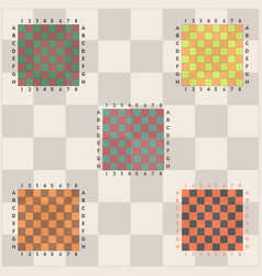 Chess boards set vector