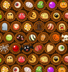 Collection of halloween candy sweet vector