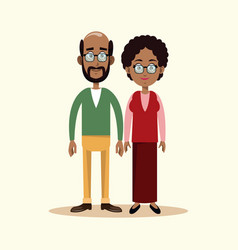 Couple grandparents family image vector