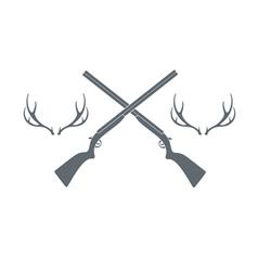 Deer hunt icon vector