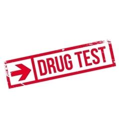 Drug test stamp vector