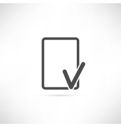 Empty check icon vector