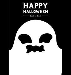 happy halloween ghost greeting vector image vector image