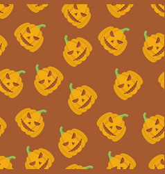 holiday seamless halloween pattern vector image vector image