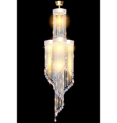 Modern chandelier with crystal vector