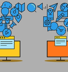Modern communication scheme vector