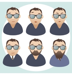 Portraits of men wearing spectacles vector