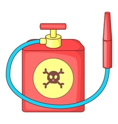 Red insecticide spray icon cartoon style vector