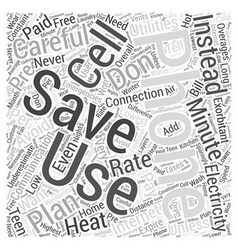 Save on communication and electricity word cloud vector