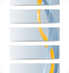 Set of business cards with golden stripe vector image vector image